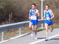 Oskar Primo yPatxi Orofino en una carrera anterior