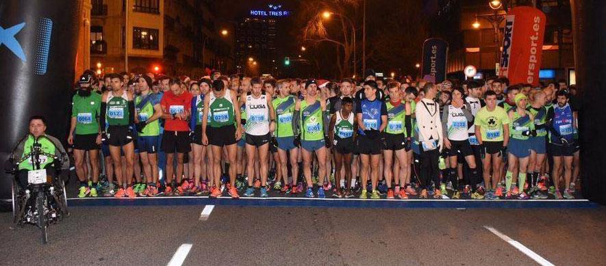 Salida de la San Silvestre de Pamplona (Foto: Diario de Noticias)