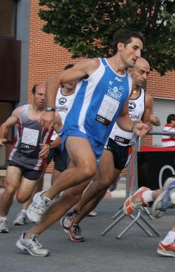 Carlos Nuin, en la milla de Zizur.
